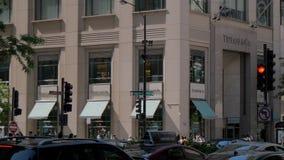 Κατάστημα της Tiffany στο Σικάγο Michigan Avenue - το ΣΙΚΑΓΟ, ΗΝΩΜΕΝΕΣ ΠΟΛΙΤΕΊΕΣ - 11 ΙΟΥΝΊΟΥ 2019 απόθεμα βίντεο