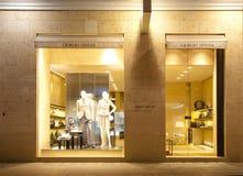 κατάστημα του Giorgio εμπορικών σημάτων armani Στοκ εικόνα με δικαίωμα ελεύθερης χρήσης