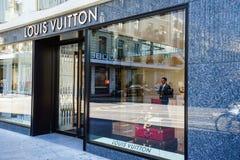 κατάστημα του Louis vuitton Στοκ εικόνες με δικαίωμα ελεύθερης χρήσης