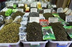 Κατάστημα τσαγιού σε Chinatown Μπανγκόκ Στοκ εικόνα με δικαίωμα ελεύθερης χρήσης