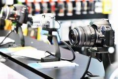 κατάστημα φωτογραφικών μηχανών Στοκ Εικόνες