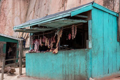 Κατάστημα χασάπηδων στην πλευρά του δρόμου, Μαδαγασκάρη Στοκ Φωτογραφίες