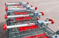 Κατάστημα Auchan κάρρων αγορών Γαλλικό δίκτυο διανομής Auchan Στοκ φωτογραφία με δικαίωμα ελεύθερης χρήσης