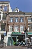 Κατάστημα Coffe στην παλαιά πόλη του Άμστερνταμ. Στοκ Εικόνες