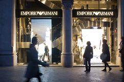 κατάστημα emporio armani Στοκ φωτογραφίες με δικαίωμα ελεύθερης χρήσης