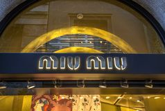 Κατάστημα Miu Miu Στοκ φωτογραφία με δικαίωμα ελεύθερης χρήσης