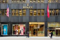 Κατάστημα NYC της Rolex Στοκ Εικόνες