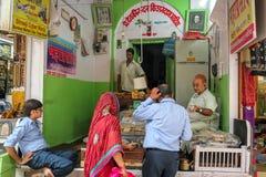 Κατάστημα Prasad σε Shreenathiji Στοκ Εικόνες