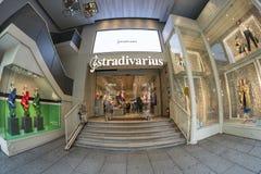 Κατάστημα Stradivarius σε Gran μέσω Μαδρίτη, στις 11 Μαρτίου 2018 Ισπανία Στοκ Εικόνα
