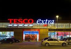 Κατάστημα Tesco τη νύχτα στοκ εικόνα με δικαίωμα ελεύθερης χρήσης