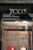 Κατάστημα Tod ` s στοκ εικόνα με δικαίωμα ελεύθερης χρήσης