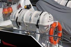 κατάστρωμα ναυαγοσωστ&iot στοκ εικόνα