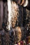 Κατάταξη των επεκτάσεων ανθρώπινα μαλλιών Στοκ Εικόνες