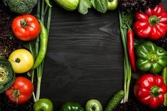Κατάταξη των λαχανικών που τακτοποιούνται στη μορφή πλαισίων, με το διάστημα στοκ φωτογραφία με δικαίωμα ελεύθερης χρήσης