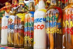 Κατάταξη των μπουκαλιών rhum στην αγορά Στοκ εικόνες με δικαίωμα ελεύθερης χρήσης