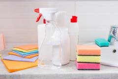 Κατάταξη των νέων οικιακών καθαρίζοντας προϊόντων Στοκ Εικόνα