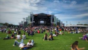 Κατάψυξη στο Lollapalooza Στοκ Εικόνες