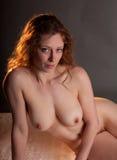 Κατάλληλη Nude Redhead γυναίκα Στοκ Φωτογραφίες