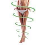 Κατάλληλο θηλυκό σώμα με τα βέλη γύρω από το Στοκ εικόνες με δικαίωμα ελεύθερης χρήσης