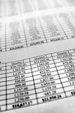 Κατάλογος ή διάγραμμα της αύξησης πλούτου επενδύσεων χρημάτων Στοκ Φωτογραφίες