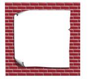 Κατάλογος για τη διαφήμιση του τούβλινου τοίχου Στοκ Εικόνες