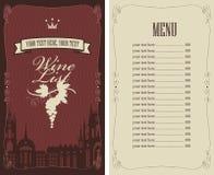 Κατάλογος κρασιού απεικόνιση αποθεμάτων