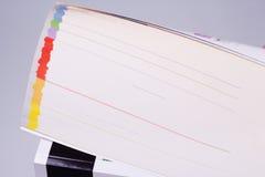 Κατάλογος με τις χρωματισμένες σελίδες Στοκ εικόνα με δικαίωμα ελεύθερης χρήσης