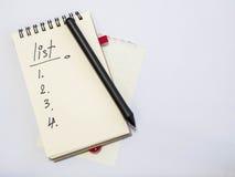 Κατάλογος σημειώσεων Στοκ εικόνα με δικαίωμα ελεύθερης χρήσης