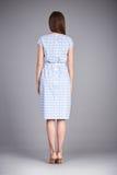 Κατάλογος των ενδυμάτων μόδας για θερινή συλλογή φορεμάτων βαμβακιού μεταξιού κομμάτων περιπάτων συνεδρίασης του ύφους γραφείων ε Στοκ φωτογραφία με δικαίωμα ελεύθερης χρήσης