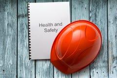 Κατάλογος υγειών και ασφαλειών με το κράνος Στοκ Εικόνα