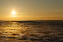 Κατά τη διάρκεια του ηλιοβασιλέματος Στοκ φωτογραφίες με δικαίωμα ελεύθερης χρήσης