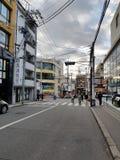 Κατά τη διαδρομή στην οδό αγοράς Otesuji στην περιοχή του Κιότο Kansai Στοκ Φωτογραφίες