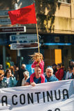 Κατά τη διάρκεια του εορτασμού της ημέρας Μαΐου στο κέντρο της πόλης Στοκ Εικόνες