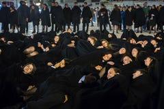 Κατά τη διάρκεια του Queima DAS Fitas - είναι ένας παραδοσιακός εορτασμός των σπουδαστών μερικών πορτογαλικών πανεπιστημίων Στοκ Φωτογραφίες