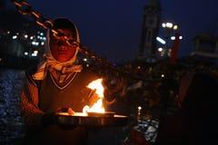 Κατά τη διάρκεια των εορτασμών Makar Sankranti Στοκ Εικόνα