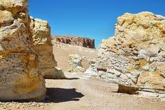 Κατά τη διαδρομή Salar de Tara, Χιλή στοκ εικόνες
