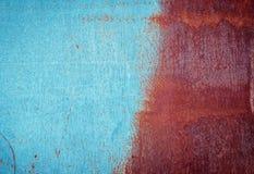 Κατά το ήμισυ χρωματισμένη σκουριασμένη σύσταση μετάλλων Στοκ Εικόνες