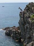 Κατάδυση απότομων βράχων της Ιταλίας 2017 Στοκ Φωτογραφία