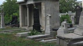 Κατέστρεψε τους τάφους στο εβραϊκό νεκροταφείο Βάρνα bulblet απόθεμα βίντεο