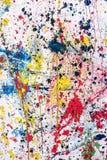 Καταβρεγμένα αφηρημένα ζωηρόχρωμα χρώματα Στοκ φωτογραφία με δικαίωμα ελεύθερης χρήσης