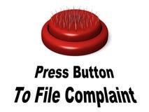 καταγγελία κουμπιών Στοκ φωτογραφία με δικαίωμα ελεύθερης χρήσης