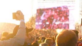 Καταγραφή ατόμων στο φεστιβάλ μουσικής απόθεμα βίντεο