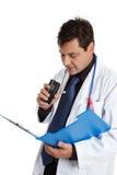 καταγραφή πληροφοριών γιατρών στοκ φωτογραφίες