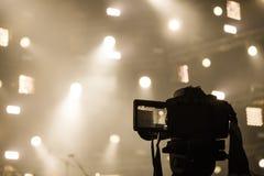 Καταγραφή στη κάμερα από την περιοχή συναυλίας Στοκ φωτογραφίες με δικαίωμα ελεύθερης χρήσης
