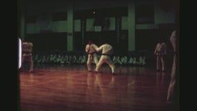 Καταδεικνύοντας Karate δεξιότητες απόθεμα βίντεο