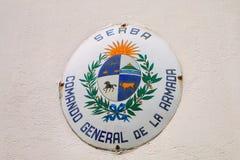 Καταδρομέα General de Λα Armada σημάδι σε Colonia del Σακραμέντο, Uru Στοκ εικόνες με δικαίωμα ελεύθερης χρήσης