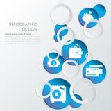 Καταθέτοντας σε τράπεζα infographic πρότυπο Στοκ Εικόνα