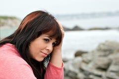 καταθλιπτική γυναίκα Στοκ Φωτογραφία