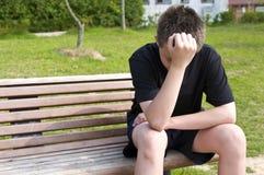 καταθλιπτικός έφηβος Στοκ Φωτογραφίες