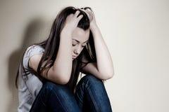 καταθλιπτικός έφηβος Στοκ Εικόνες